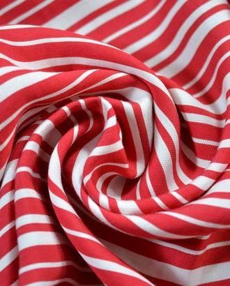 Ткань плательная в полоску красного и белого цвета арт. ГТ-709-1-ГТ0024267