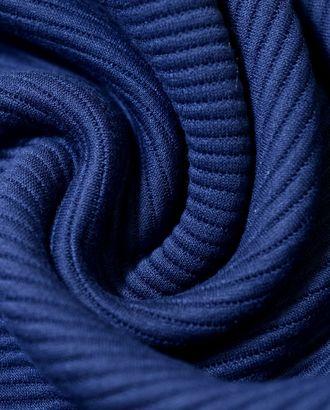 Ткань трикотаж вискозный темно-синего цвета в полоску арт. ГТ-718-1-ГТ0024324