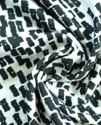Черно-белая блузочная ткань с геометрическим рисунком арт. ГТ-771-1-ГТ0024913