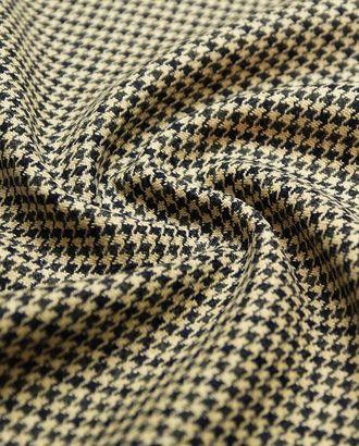 Ткань пальтовая двухслойная, гусиная лапка в коричнево-бежевой гамме арт. ГТ-4671-1-ГТ-26-6267-5-1-1