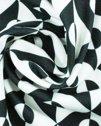 Ткань трикотаж в стиле инь-янь арт. ГТ-852-1-ГТ0026212