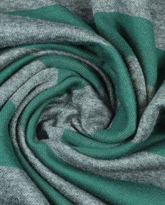 Вискозный трикотаж, серо-зеленая полоска шириной 4 см арт. ГТ-901-1-ГТ0026780