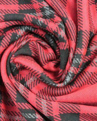 Красно-черно-серая клетка на трикотажной ткани арт. ГТ-906-1-ГТ0026798