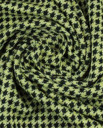 Ткань трикотаж, черно-желтая гусиная лапка арт. ГТ-909-1-ГТ0026802