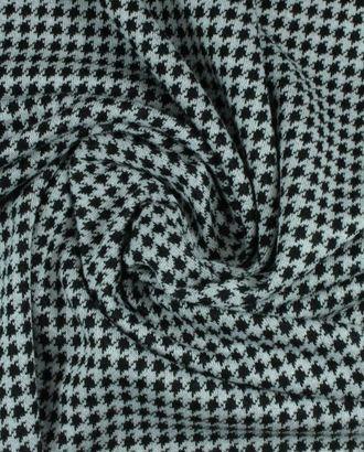 Ткань трикотаж, черно-белая гусиная лапка арт. ГТ-910-1-ГТ0026803