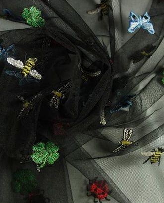 Сетка черного цвета с изображением насекомых арт. ГТ-918-1-ГТ0026879