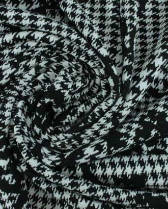 Трикотаж черно-белого цвета гусиная лапка с вензелями арт. ГТ-945-1-ГТ0027479