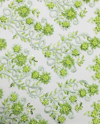 Очаровательный стеклярус малахитовый цветок арт. ГТ-990-1-ГТ0027614