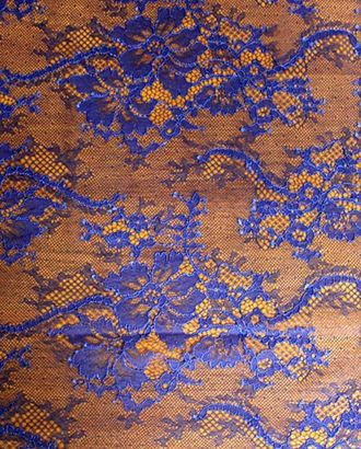 Кружево на сетке цвета синего всадника арт. ГТ-998-1-ГТ0027624