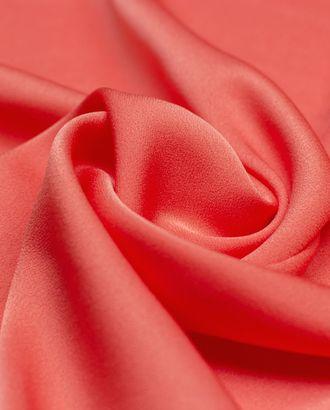 Ткань плательная двухсторонняя Кади кораллового цвета арт. ГТ-4219-1-ГТ-28-5723-1-13-1