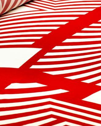 Ткань плательная с крупным геометрическим рисунком красного цвета арт. ГТ-4448-1-ГТ-28-5936-14-21-1