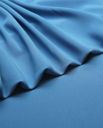 """Ткань плательная """"Кади"""" темно-голубого цвета арт. ГТ-4824-1-ГТ-28-6461-1-7-1"""