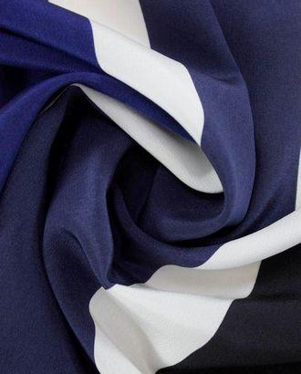 Шелковая ткань в черную, синюю и белую полоску арт. ГТ-1051-1-ГТ0028186