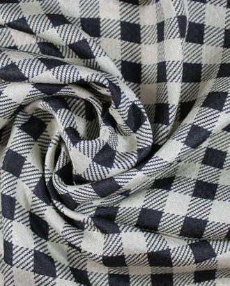 Шелк, геометрический узор черно-серебристого цвета арт. ГТ-1062-1-ГТ0028203