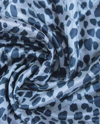Ткань плащевая стеганная, черно-серебристый далматинец арт. ГТ-1092-1-ГТ0028353