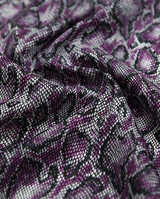 Ткань плащевая, фиолетово-черный змеиный принт арт. ГТ-1134-1-ГТ0028428