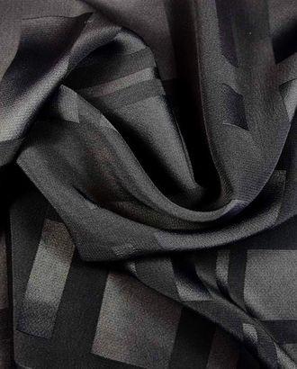 Ткань плательная черного цвета, геометрическое тиснение арт. ГТ-1138-1-ГТ0028434