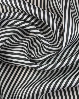 Ткань подкладочная, черно-белая полоска арт. ГТ-1139-1-ГТ0028437