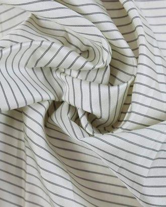 Ткань подкладочная, черные полоски на белом перламутре арт. ГТ-1163-1-ГТ0028497