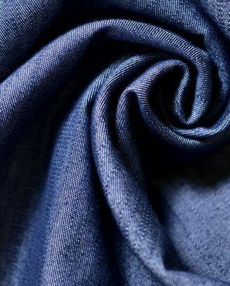 Ткань джинсовая тонкая, цвет синий с продольным перламутровым муаром арт. ГТ-1230-1-ГТ0029515