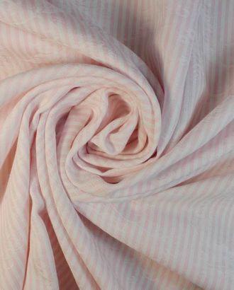 Хлопок в бело-розовую полоску с жаккардовым узором арт. ГТ-1243-1-ГТ0029899