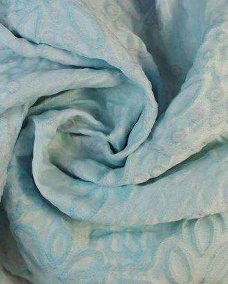 Жаккард, цветочный принт с тиснением в нежно розово-голубых тонах арт. ГТ-1270-1-ГТ0030192