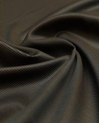 Ткань подкладочная в полоску, цвет шоколадный арт. ГТ-4818-1-ГТ-31-6452-3-14-1