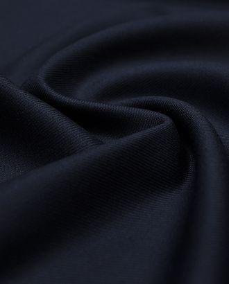 Плотная 2х сторонняя костюмная ткань цвета темно-синей полночи (478 гр/м2) арт. ГТ-3715-1-ГТ0000341