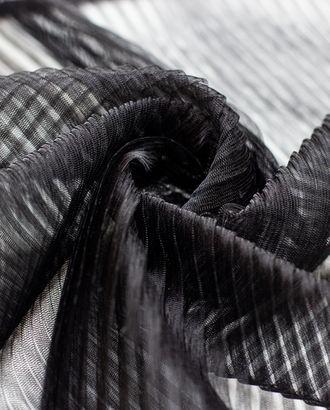 Плиссированный фатин, цвет черный, мелкая складка арт. ГТ-4290-1-ГТ-37-5799-1-38-1