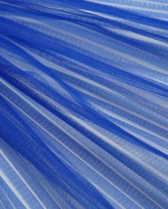 Плиссированный фатин василькового цвета арт. ГТ-4558-1-ГТ-37-6096-1-30-1