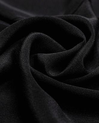 Блузочный шелк угольно-черного цвета арт. ГТ-4239-1-ГТ-39-5743-1-38-1