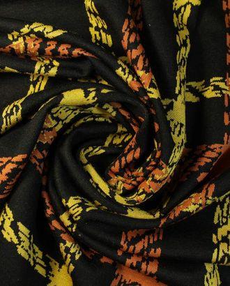 Трикотаж терракотово-желтая клетка арт. ГТ-1355-1-ГТ0042801