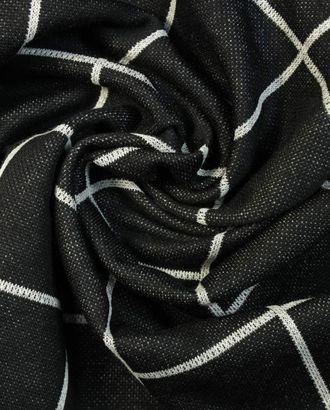 Трикотажная ткань в клетку черно-белого цвета арт. ГТ-1358-1-ГТ0042804