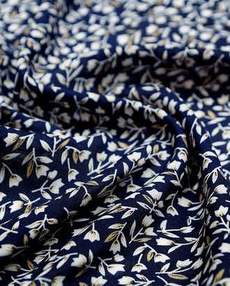 Штапель, цветочный принт на синем фоне арт. ГТ-4583-1-ГТ-43-6125-11-21-1