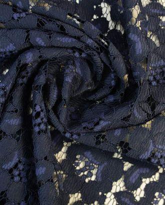Нежное цветочное кружево полуночно-синего цвета арт. ГТ-1389-1-ГТ0043157