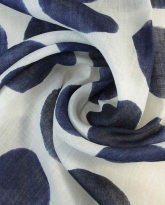 Блузочная ткань, крупные горошины на белом фоне арт. ГТ-1400-1-ГТ0043331