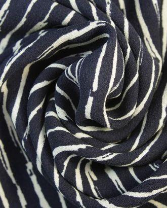 Шелк темно-синего цвета в бежевую полоску арт. ГТ-1404-1-ГТ0043339