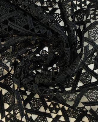 Черное хлопковое кружево арт. ГТ-1427-1-ГТ0043432