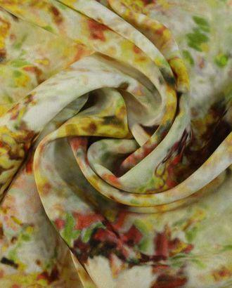 Шелк, цветочный узор с эффектом размытия арт. ГТ-1439-1-ГТ0043484