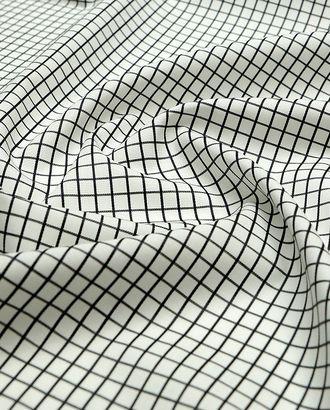 Рубашечная ткань в классическую черно-белую клетку арт. ГТ-3798-1-ГТ0000442