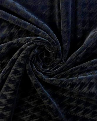 Бархат, коричнево-черная гусиная лапка арт. ГТ-1566-1-ГТ0045090