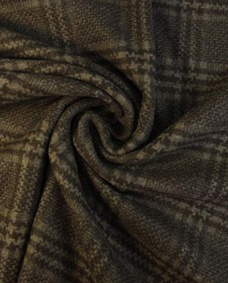 Кашемировая двухсторонняя пальтовая ткань шоколадно-коричневого цвета в клетку арт. ГТ-1581-1-ГТ0045111