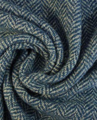 Ткань пальтовая в елочку цвета кипрского бриза арт. ГТ-1586-1-ГТ0045117