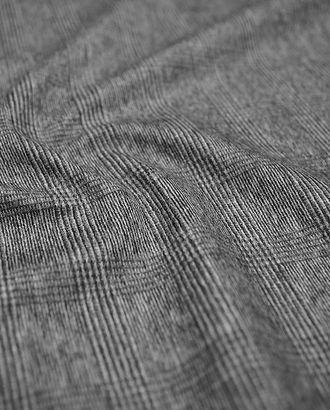 Клетчатая шерстяная пальтовая ткань серого цвета арт. ГТ-1595-1-ГТ0045126