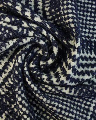 Ткань пальтовая тартан в белого и синего цветов арт. ГТ-1599-1-ГТ0045131
