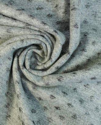 Светло-серая трикотажная ткань с серебристым горошком арт. ГТ-1613-1-ГТ0045148