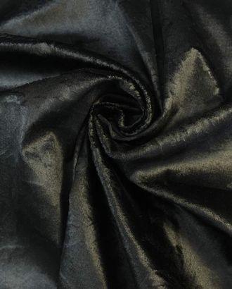 Бархат перламутрово-черного цвета с цветочным узором арт. ГТ-1648-1-ГТ0045292