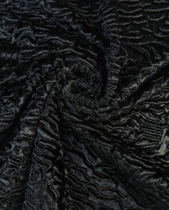 Искусственный мех переливающегося черного цвета арт. ГТ-1653-1-ГТ0045301