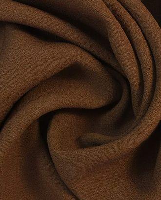 """Ткань плательная двухсторонняя """"Кади""""  шоколадного цвета арт. ГТ-1654-1-ГТ0045303"""