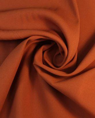 """Ткань плательная двухсторонняя """"Кади"""", оранжево-абрикосовый цвет арт. ГТ-1660-1-ГТ0045310"""